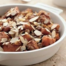 Sweet Potatoes with Pumpkin Pie Spice and Raisins