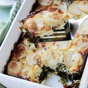 Spinach Feta and Potato Gratin