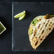Fish Tacos + Grilled Tomatillo and Pineapple Salsa