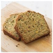 Zucchini Bread with Pistachios & Orange