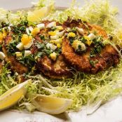 Pork Loin Cutlets With Parsley, Lemon, Capers and Chopped Egg