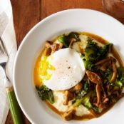 Grits With Mushroom & Curly Endive Ragout