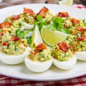 Bacon & Guacamole Deviled Eggs