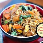 Orange Chicken Soba Noodles