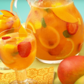 Sparkling Mango Strawberry Sangria