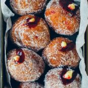 Irish Blackberry Jam and Custard Donuts