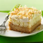 Lime in the Coconut Frosted Cheesecake Bars