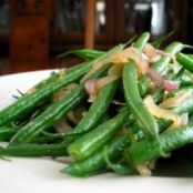 Green Beans, Roasted Fennel and Shallots
