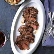 Hanger Steak with Warm Bulgur Salad