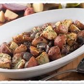 Roasted Potatoes with Red Onions