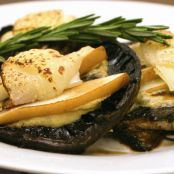 Broiled Portobello Mushroom with Pear & Provolone