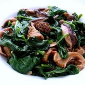 Malabar Spinach And Wild Mushroom Stir-fry