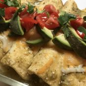 Crab Enchiladas with Tomatillo Sauce & Avocados