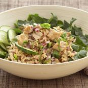 Thai Salad with Whole Grain Brown Rice & Chicken