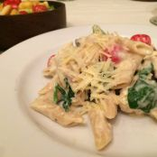 Parmesan Chicken Ziti with Artichokes and Spinach
