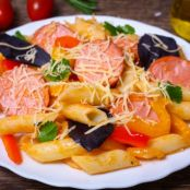 Penne Pasta with Sausage, Peppers & Onions