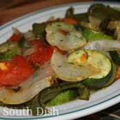 Roasted Zucchini, Onions, Peppers and Tomatoes