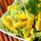 Fresh Mango Avocado Coleslaw