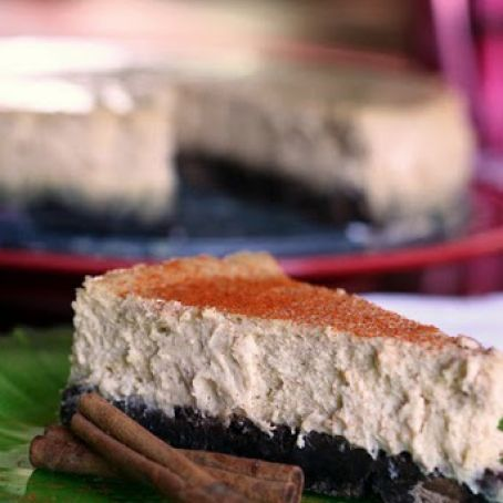 Mexican Brownie Bottom Cheesecake