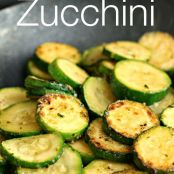 ZUCCHINI WITH GARLIC AND PARMESAN