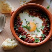 Shakshuka: Eggs Simmered in Spicy Tomatoes