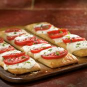 Pampered Chef Caprese Pizzas