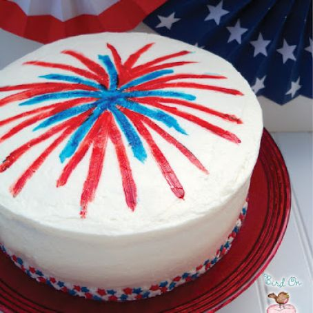 4th of July Fireworks Cake