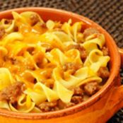 BEEF AND EGG NOODLE CASSEROLE