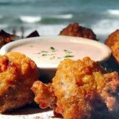 Conch Fritters with Caribbean Dipping Sauce
