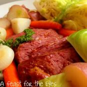 Corned Beef Cabbage with a Tangy Glaze