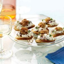 Goat Cheese, Cranberry & Walnut Canapes
