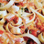 Fettuccine with Lobster, Tomatoes and Saffron