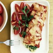Spinach and Crab Enchiladas