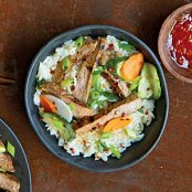 Coconut-Marinated Pork with Pickled Vegetables