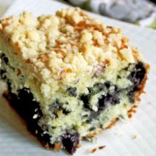 Vegan Blueberry Streusel Cake