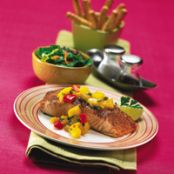 Salmon with Warm Mango Salsa