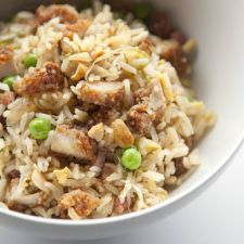 Fried-Chicken Fried Rice With Pickled Scallions & Ham