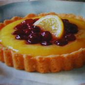 Cranberry-Topped Lemon Tarts