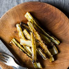 Swiss Chard Stems, Grilled with Anchovy Vinaigrette