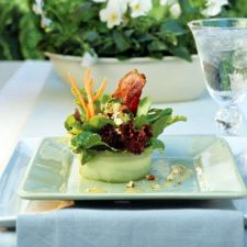 Bacon-Blue Cheese Salad With White Wine Vinaigrette