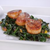 Scallops Seared with OJ & Golden Raisins