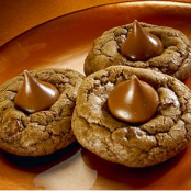 Chocolate Thumbprint Kiss Cookies