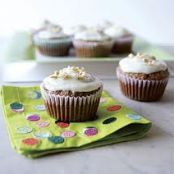 Carrot Cake Cupcakes w/Lemony Cream Cheese Frosting