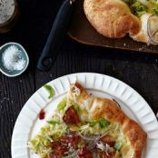Brussels Sprout Pizza With Robiola, Bacon and Red Onion