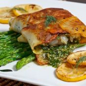 Fish Wrapped in Crispy Potatoes with Dill Caper Sauce