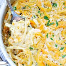 One Pot Cream Butternut Squash Pasta