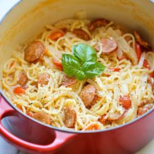 One Pot Andouille Sausage Pasta