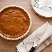 Pumpkin Pie with Candied Pecans