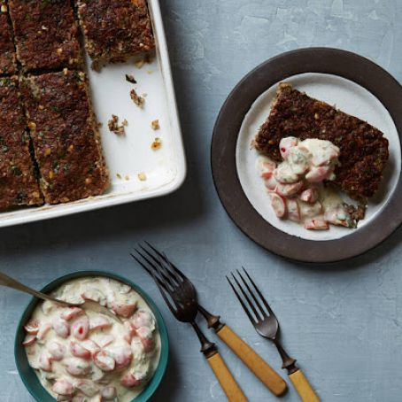 Lamb & Bulgur Meatloaf With Tomato-Yogurt Salsa