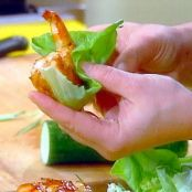 Barbecued Shrimp in Lettuce Wraps